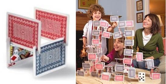 Детский конструктор из игральных карт