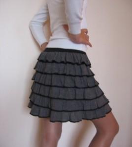 Как выкроить юбку широкую