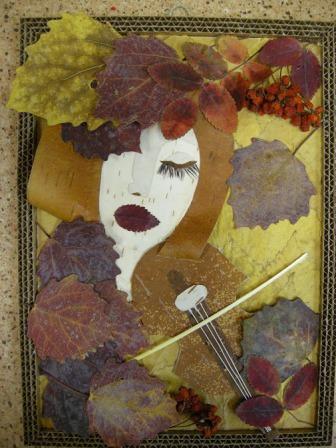 Что можно сделать из осенних листьев