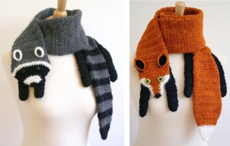 ребенку шарф-собачку или