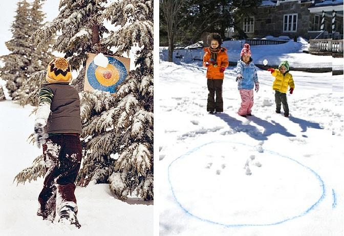 Зимняя игра - Попади в цель