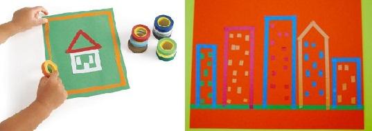 Развивающие игры для детей из изоленты