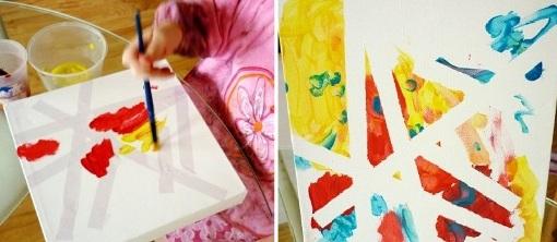 Детские развивающие игры дома из изоленты