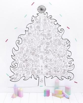 Большая раскраска елка