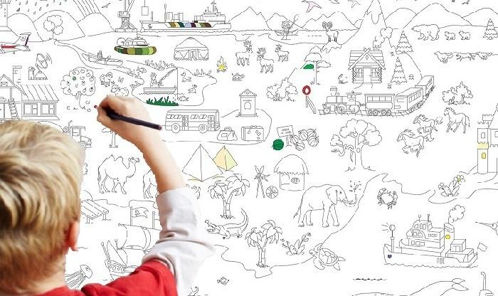 Плакаты раскраски развивающие для детей