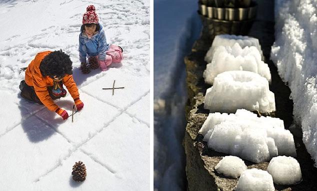 Игры на улице зимой