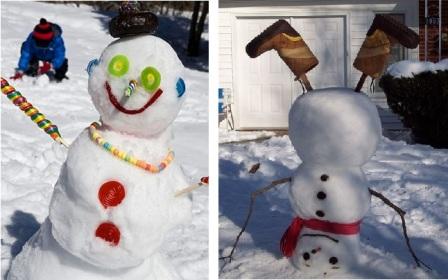 Оригинальный снеговик